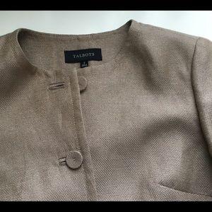 Talbots Linen Jacket Size:2